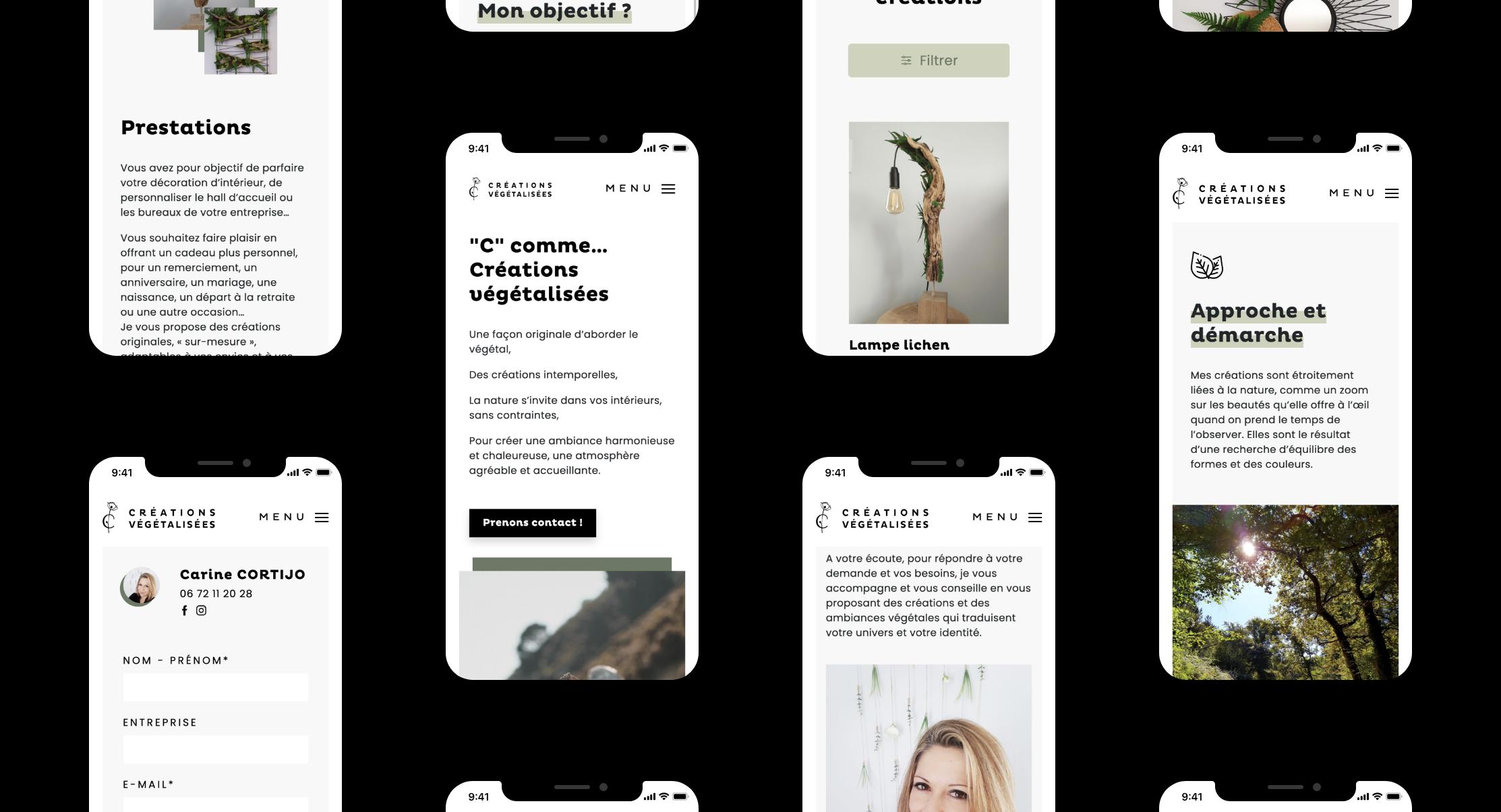 Création de site responsive pour Carine CORTIJO